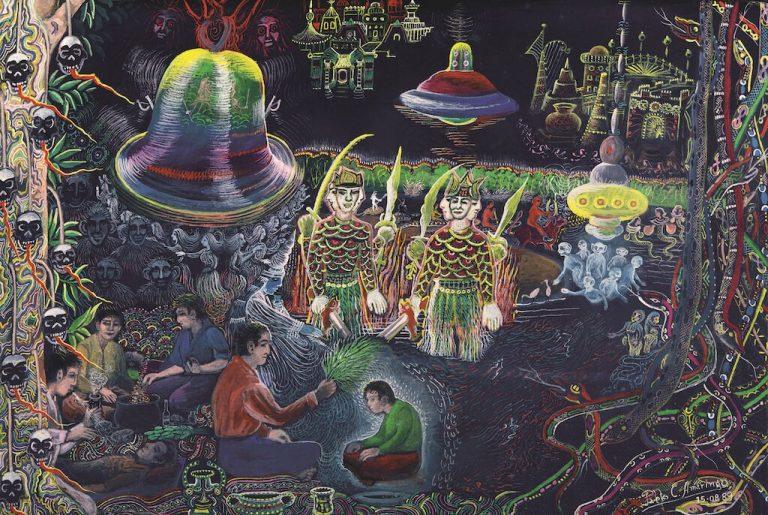 Campana ayahuasca pablo amaringo painting