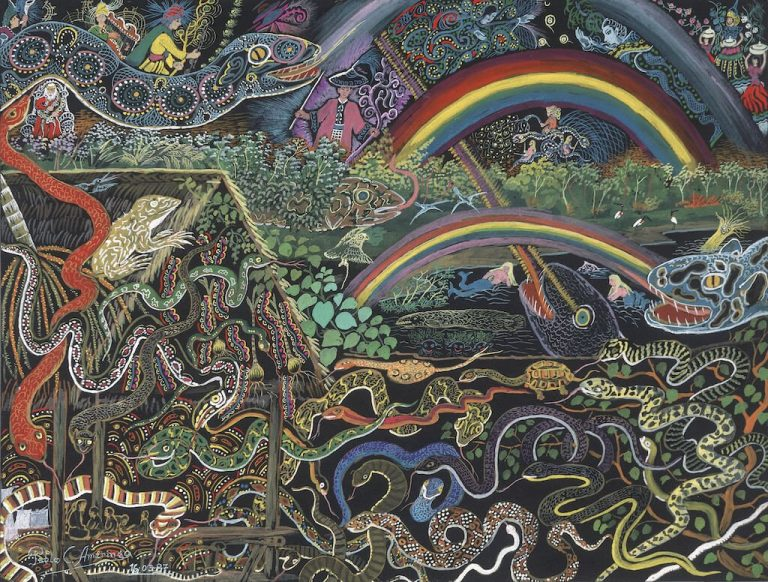 Vision of the snakes painting